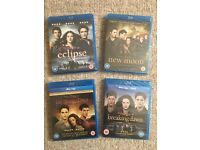 The Complete Collection of Twilight Saga Films on Blu Ray DVD - Brand New & Sealed