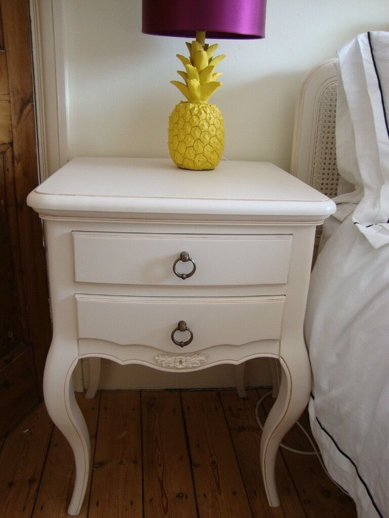 Cream Bedside Tables: John Lewis Sophia French Cream Painted Pair Of 2 Drawer
