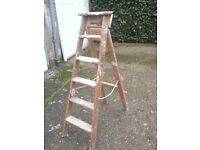 SET OF OLD FASHIONED WOODEN STEPS