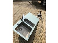 FRANKE double glass sink and tap
