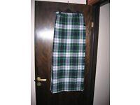 Long, wool kilted skirt - Dress Gordon tartan