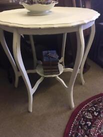 Beautiful Vintage hand painted table in cream