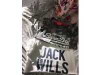 Jack wills and superdry tshirts