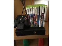 Xbox 360 2 controllers 9 games