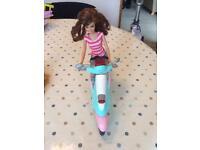 Barbie on Motorbike
