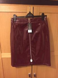 Brand new size 10 PVC skirt