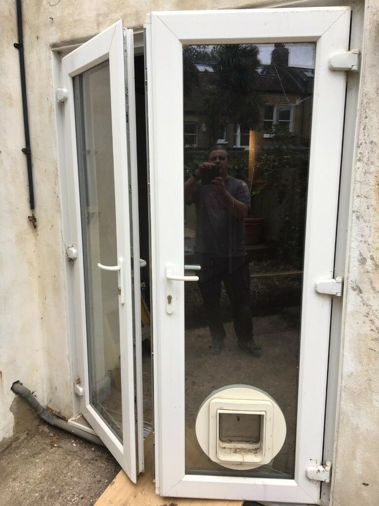 Patio Doors Ublewith Catflap In Clapham Common London Gumtree