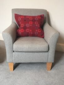 Contemporary Armchair for sale. John Lewis Chair covered in Jasper Conran fabric