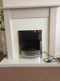 Electrical fireplace and surround