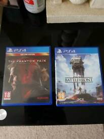 Star wars battlefront/ metal gear solid ( ps4 )