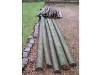 1.5 m Fencing posts and half round rails