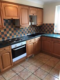 A two bedroom part furnished flat in Woodseats with double glazing, fitted kitchen and single garage