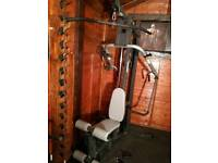 Heavy duty multi gym with rubber 96 kg weights stack
