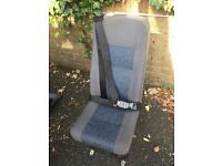 Minibus / van single seats with built in seat belts and Unwin tracking