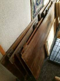 2 x 50's/60's 6ft wooden trussle tables