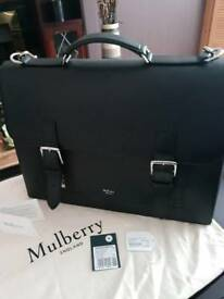 Mulberry chiltern black leather satchel