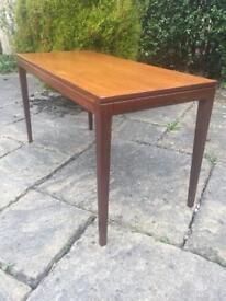 Solid teak coffee table 1960 1970 RETRO mid century