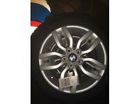 Bmw 17inch alloy wheels with new tyres