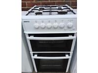 Beko gas cooker double oven tested / guaranteed 50cm