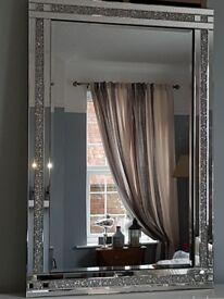 Absolutely Stunning Rhinestone Encrusted Large Glitz Mirror 80 x 120cm. BNIB