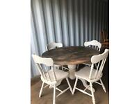 Refurbished table and chairs