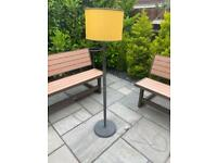 Standard standing upright lamp and shade
