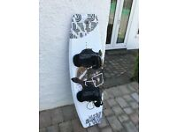 Body Glove Antix Wakeboard 139cm with Brandon open toe bindings