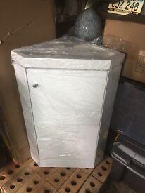 White Gloss Corner Sink Unit