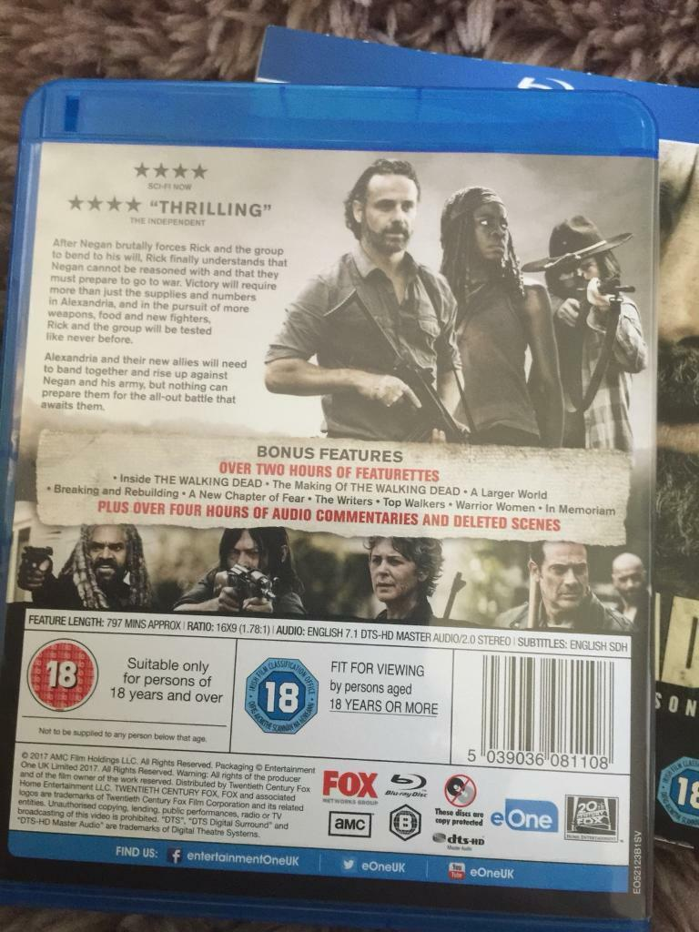 Walking dead season 7 Blu-ray