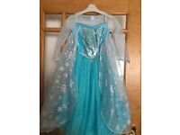 ELSA DRESS UP COSTUME, ELSA WIG - ORIGINAL DISNEY STORE - AGE 5-6