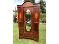 Edwardian mahogany wardrobe (can deliver)