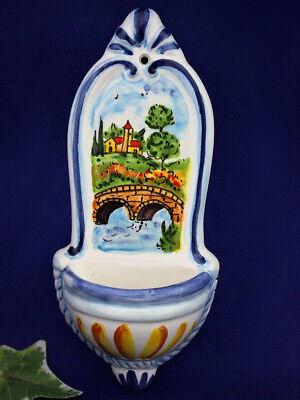 Tuscany Italy Holy Water Font Italian Pottery Wall Decor Tuscan Countryside