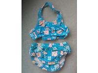 Zoggs swim nappy bikini 2-3 years