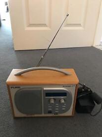 Pure DAB digital radio. Evoke 1