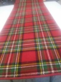 Carpet runner - Royal Stewart tartan carpet size 4.80m x 0.70m