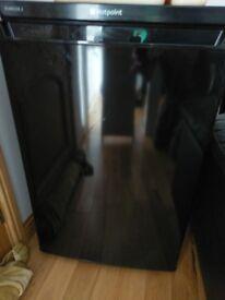 Nearly new black hotpoint fridge and hotpoint freezer