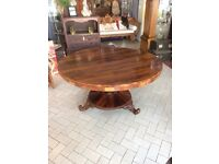 Victorian rosewood tilt top breakfast table