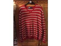 Red & White Ralph Lauren Jumper