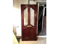 Victorian / Edwardian style front door. Solid wood.