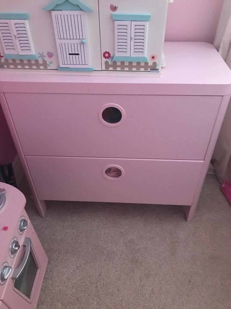 Kids IKEA wardrobe and chest drawers