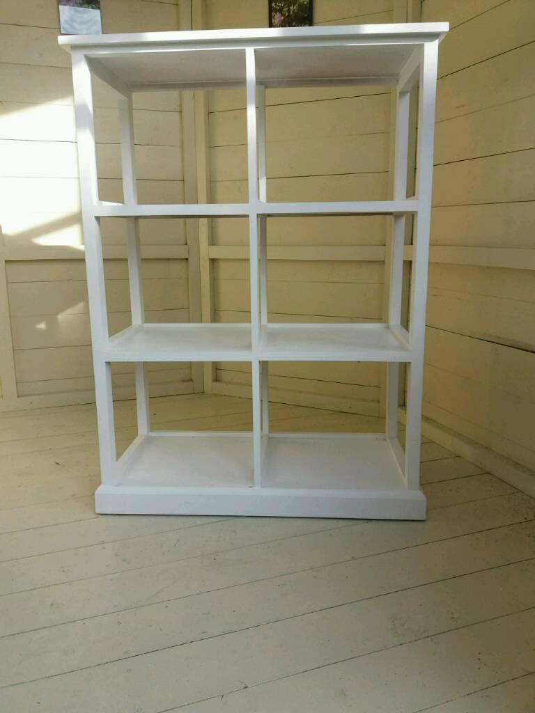Casa white wooden storage unit