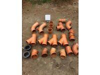 Drain pipe fittings 160 & 110mm