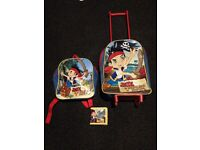 Jake and the neverland pirates suitcase and bag set