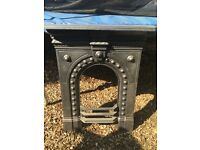 ***VICTORIAN CAST IRON BEDROOM FIREPLACE SURROUND***