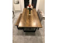 DINNING TABLE BENCH AND 2 CHAIRS ALL FROM NEXT
