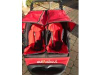 Out N About Nipper 360 Double pushchair Red