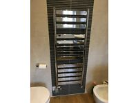 PORCELANOSA NK SKY CHROME 500 x 1300 TOWEL RADIATOR WITH ELECTRIC HEATING ACCESSORY