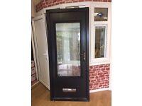 Perugia Black Solidor Composite door - Ex-Display