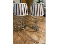 2 x Laura Ashley table lamps with lampshades