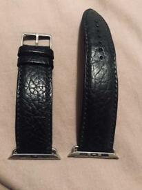 Custom 42mm Apple Watch Real Leather Strap